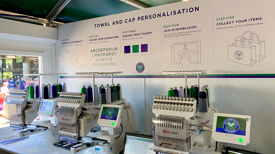 Towel & cap personalisation with Wilcom