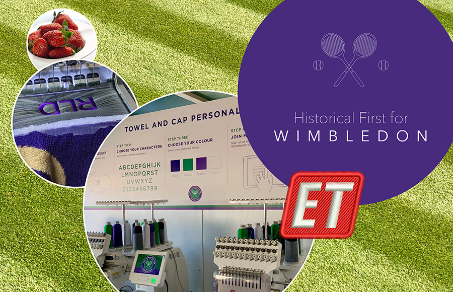 Wimbledon offers personalised merchandise using Wilcom