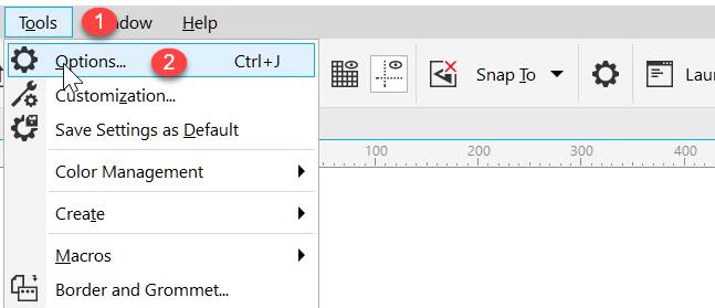 Tools-options