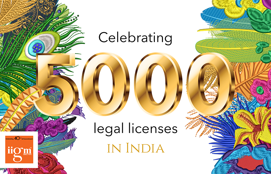 5000 legal licenses in India
