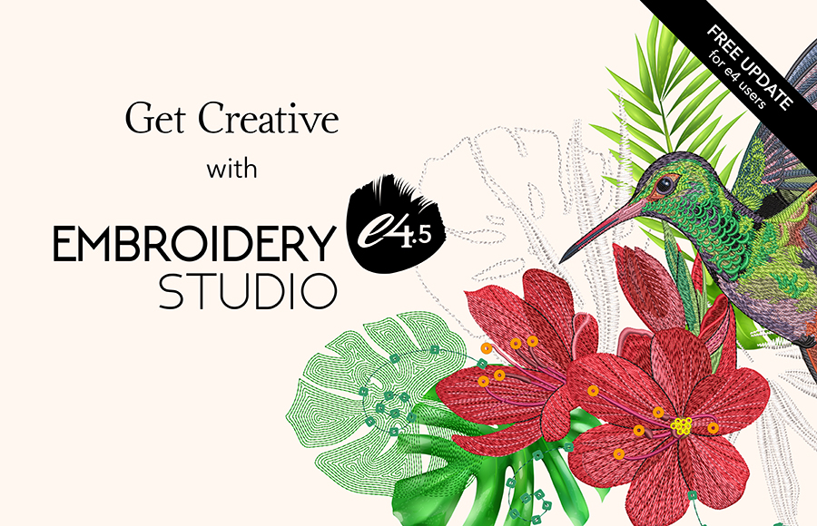 Get creative with EmbroideryStudio e4.5