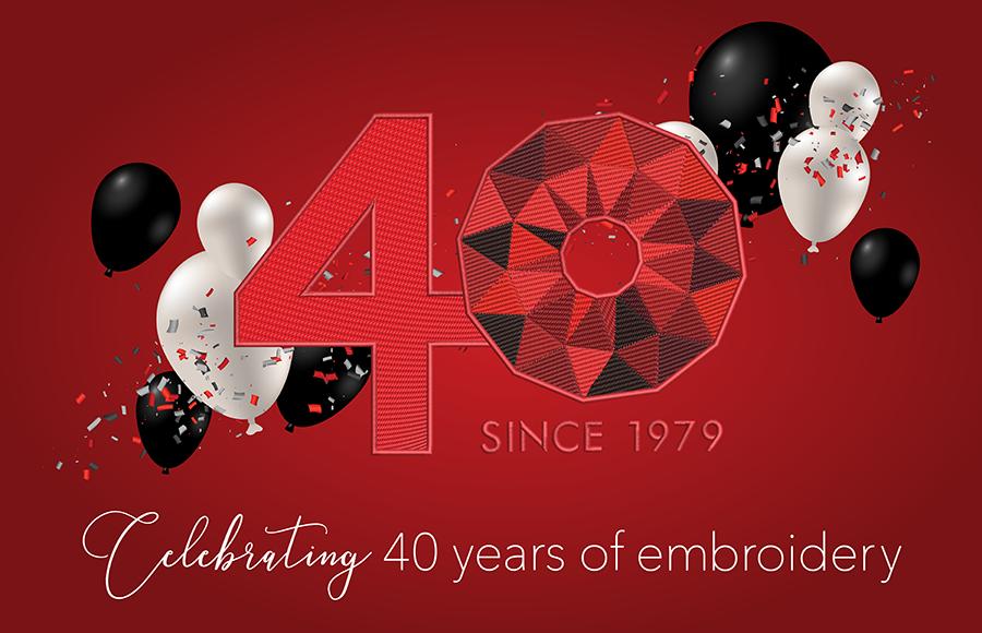 Wilcom celebrates 40 years of embroidery