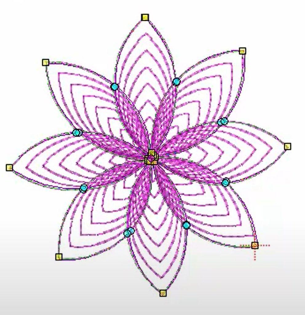 Spiral Fill flower design