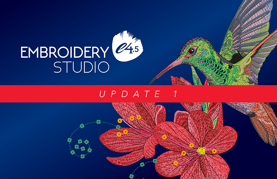 EmbroideryStudio e4.5 Update 1