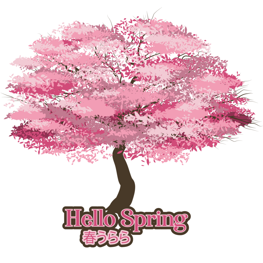 Cherry Blossom Tree graphic design