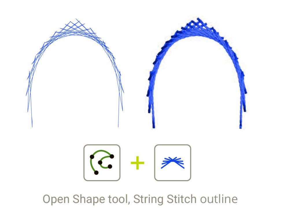 String Stitch Outline