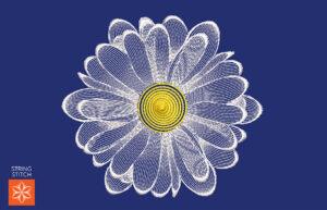 String Stitch Daisy Flower
