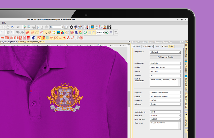 The Job Order Feature in Design Library