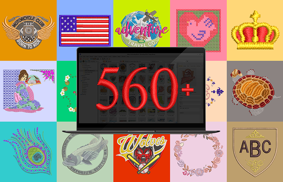 Over 560 Designs Included