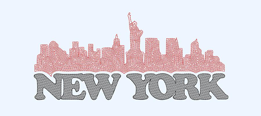 Maze Fill - New York skyline