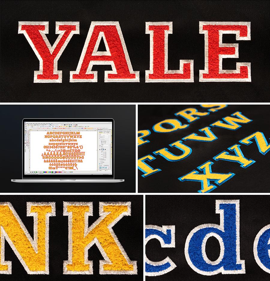 Yale Faux Chenille ESA Font Set